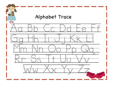 alphabet letter tracing templates alphabet tracing new calendar template site