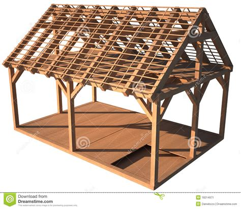 wood house structure design house wood structure stock image image 18214971