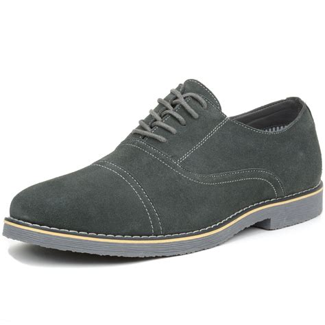 alpine swiss aston mens lace up oxfords genuine suede cap