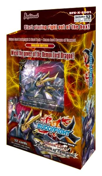 starter decks bfe x sd01 lord of tempest future