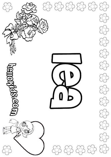 Lea Coloring Pages Hellokids Com American Coloring Pages Lea