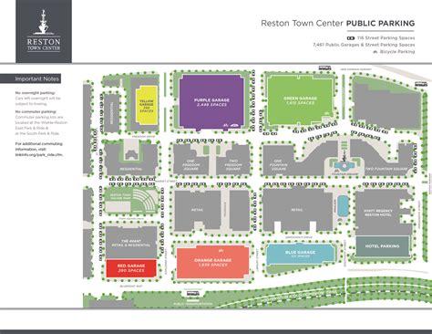 map of center parking validation reston town center gt