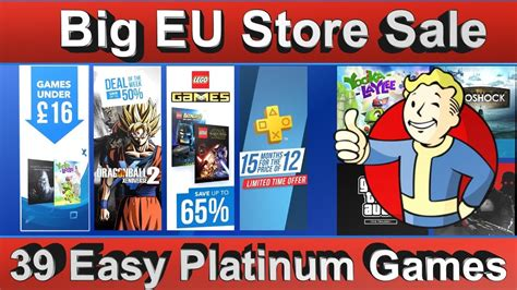 big ps4 eu sale 39 easy platinum 20 digital zone sale