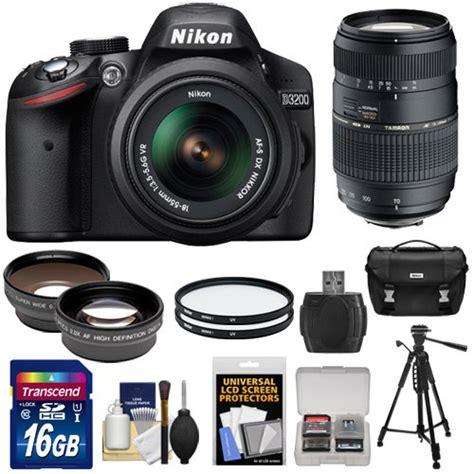 Lensa Wide Angle Untuk Nikon D3200 nikon d3200 digital slr 18 55mm g vr dx af s zoom lens black with 70 300mm lens