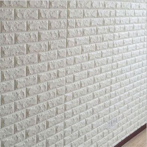 white brick wall wallpaper wall decor white 3d embossed brick stone wall sticker decal