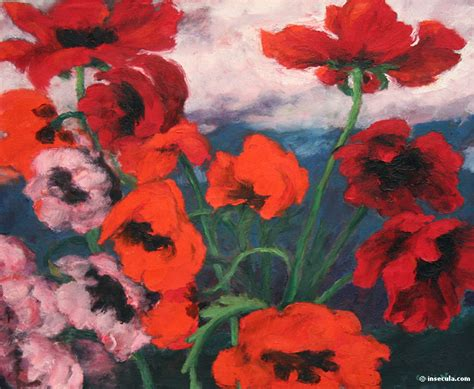 large poppies 1942 emil nolde wikiart org