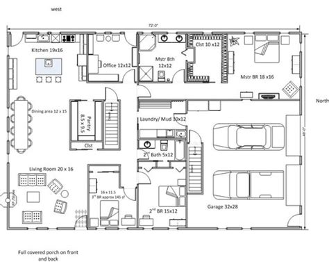 rectangular house floor plans rectangular floor plan