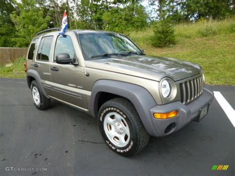 light khaki metallic paint light khaki metallic 2003 jeep liberty sport 4x4 exterior