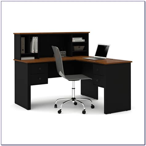realspace magellan l desk and hutch realspace magellan l shaped desk and hutch desk home