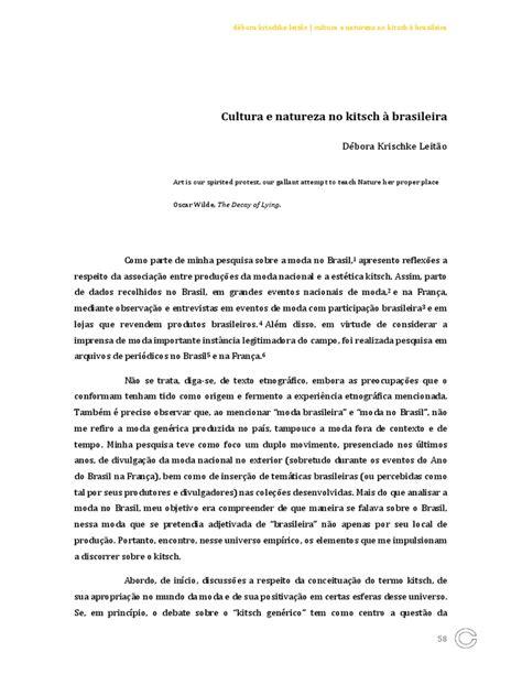 Cultura e Natureza No Kitsch à Brasileira | Moda | Moda e