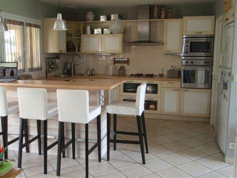 Cuisine Americaine Blanche Et Bois by 206 Lot Central Cuisine Ikea En 54 Id 233 Es Diff 233 Rentes Et