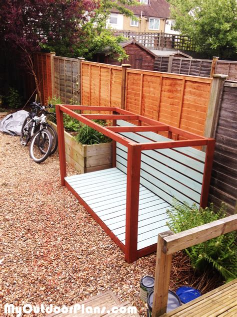 How To Make A Bike Shed by Diy Bike Shed Myoutdoorplans Free Woodworking Plans