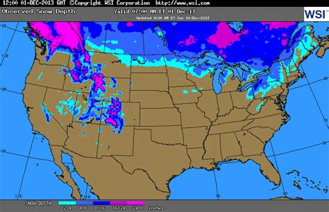 snow cover map usa the agatelady adventures and events snow coverage depths
