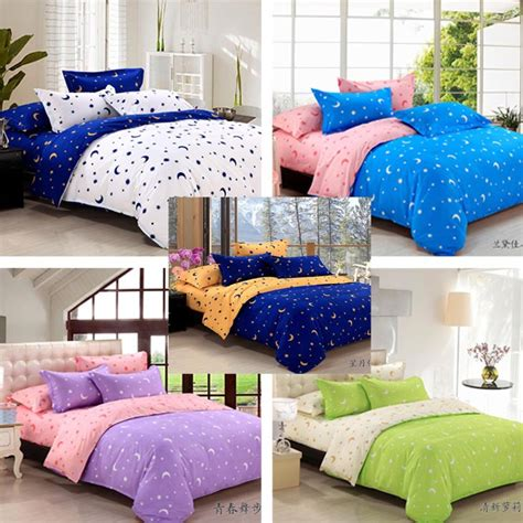 moon bed sheets free shipping stars and moon pattern bed set bedding