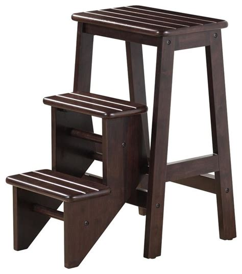 all modern step stool boraam 24 quot step stool in cappuccino contemporary step