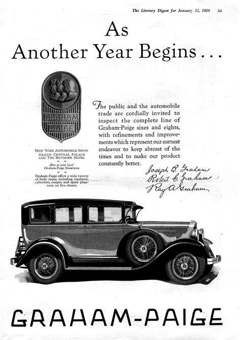 bobbed hair and bathtub gin 1929 graham paige graham paige car ads pinterest