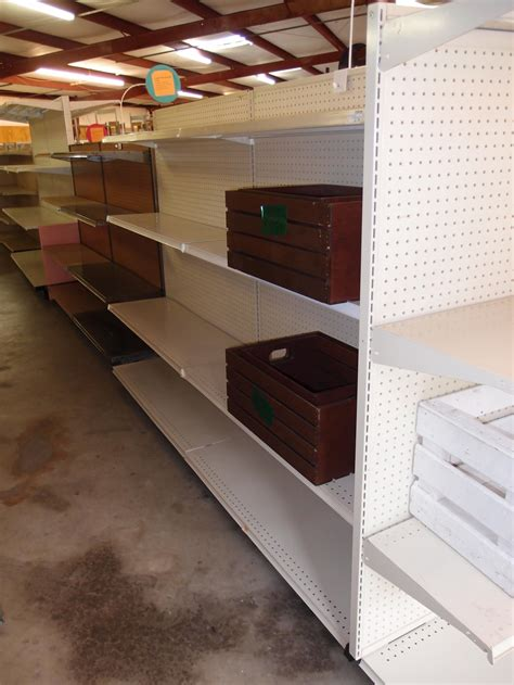 lozier shelving used used lozier 16in base almond floor gondola reeves store fixtures
