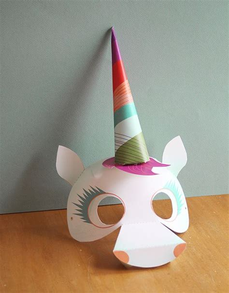 unicorn mask pattern smallful printables unicorn mask diy craft a perfect