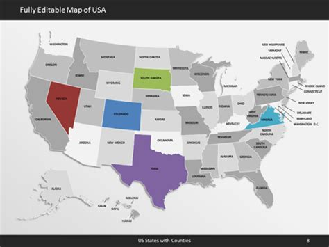 Editable Us Map For Microsoft Powerpoint Ultimate Us Map Us Map Powerpoint Template Free