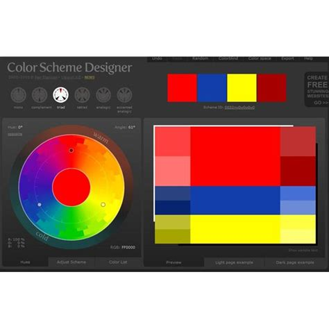 colour scheme creator learning how to use triadic color schemes effectively