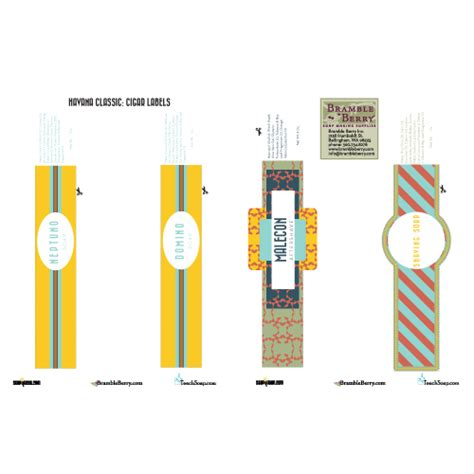 havana classic cigar band labels downloadable file