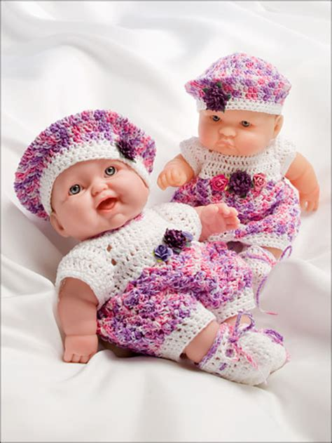pattern doll clothes 10 inch oh so cute dolls clothes crochet pattern book aa 871048