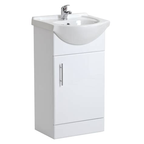 White Gloss Bathroom Vanity Unit by White Gloss Bathroom Vanity Unit Basin Sink Cabinet