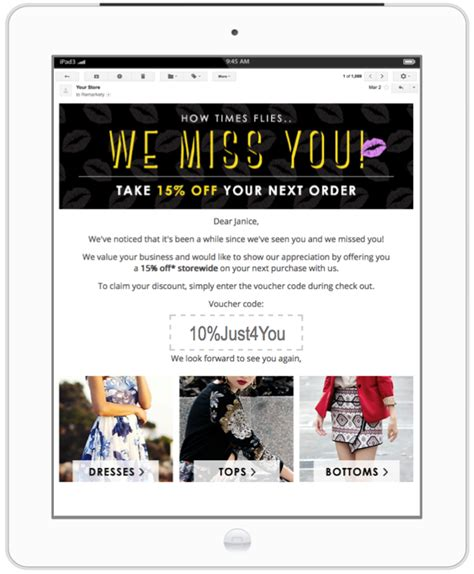 How To Design Emails Targeted At Inactive Customers We Miss You Email Template