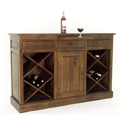 buffet range bouteilles meuble style cagne country