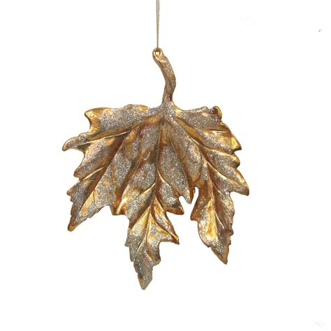 jaclyn smith gold maple leaf ornament seasonal
