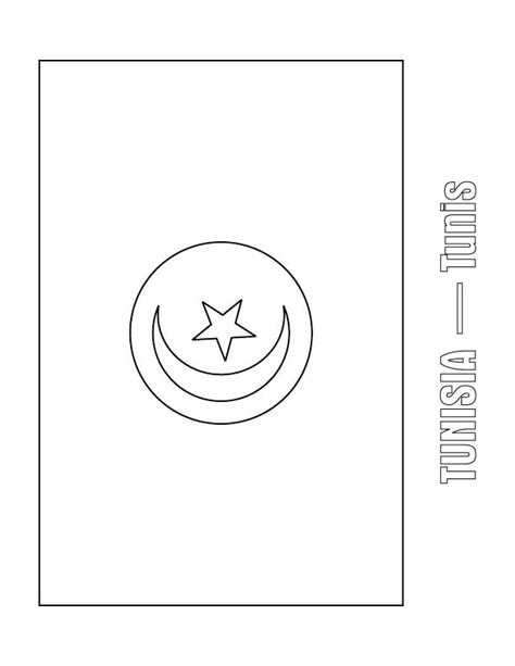 tunisia flag free coloring pages