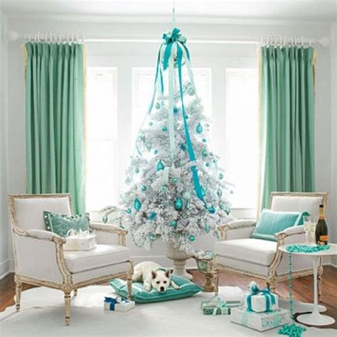 elegant white and blue color scheme christmas tree s