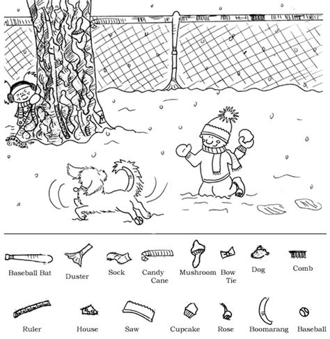 printable hidden pictures winter 6 best images of winter hidden objects printables free