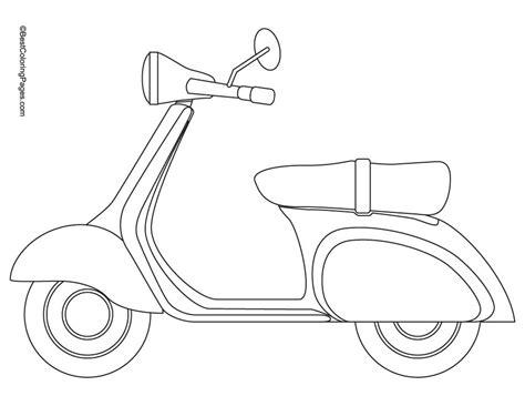 6 Dessins De Coloriage Scooter 224 Imprimer Sur Laguerche