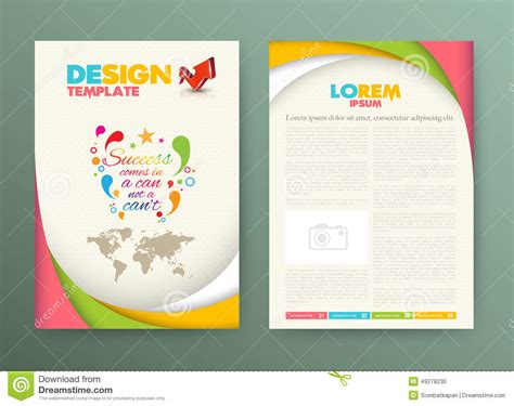 success card templates brochure flyer design layout template with success stock