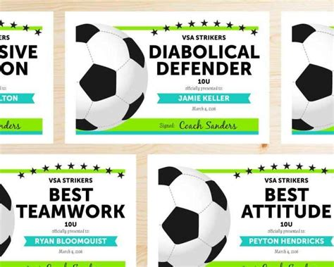 templates for soccer awards free printable soccer awards template update234 com