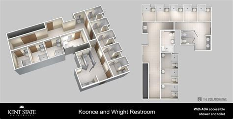 pod style bathroom view the diagram for koonce and wright restrooms with ada