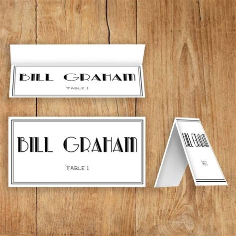printable place escort cards editable pdf template