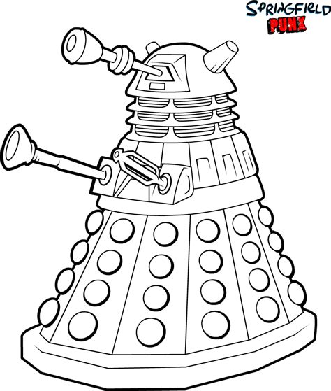 dr who coloring pages free coloring pages of doctor who dalek