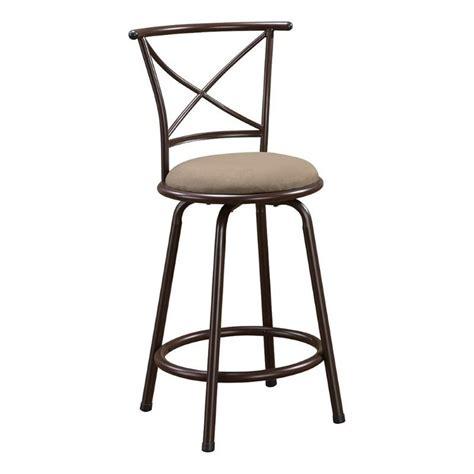 coaster 24 quot metal bar stool in brown 122029