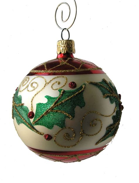 holly leaf ball ornament ebay
