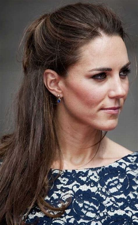 Half Up Half Down Hairstyles Kate Middleton   kate middleton hairstyles simple half up half down