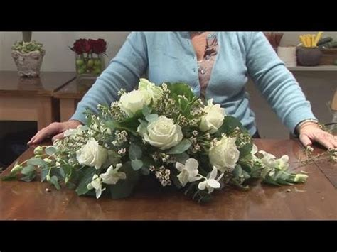 flower design youtube how to do a funeral flower arrangement youtube