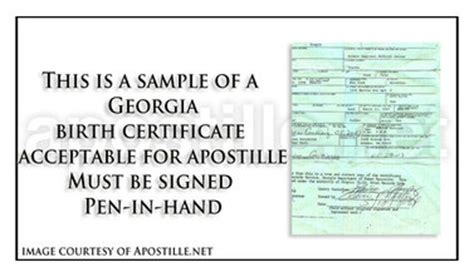 Birth Records Ga Apostille Apostille Service By Apostille Net