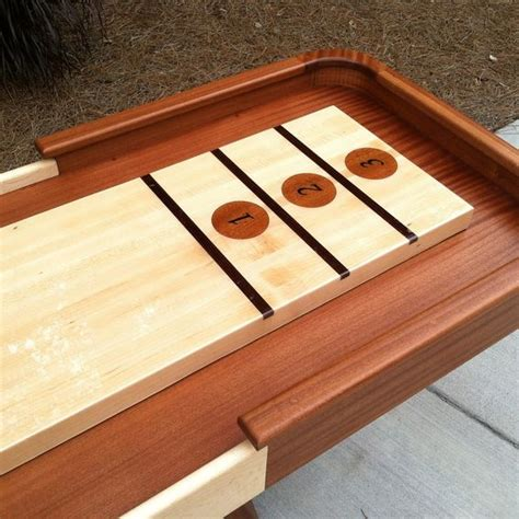 hand crafted shuffleboard table by jason hale woodworking
