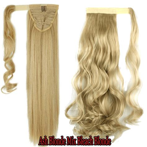 real ponytail hair extensions real as human wrap around ponytail clip in on hair