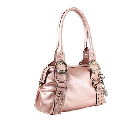 Kathy Zeelands Nappa Most Wanted Satchel by Kathy Zeeland Nappa Dbl Handle Satchel W Buckle