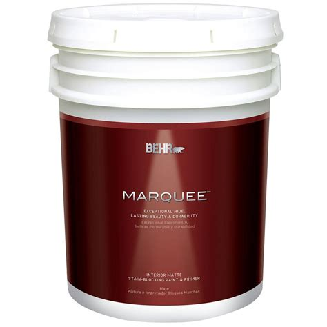 home depot paint one coat behr marquee 5 gal ultra white matte one coat hide
