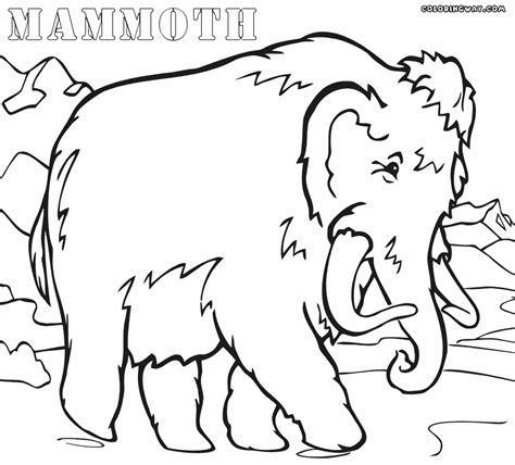 ice age mammoth coloring pages az coloring pages