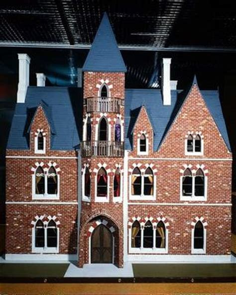 gothic dolls house exterior of victorian gothic doll s hous english school 19th century as art print
